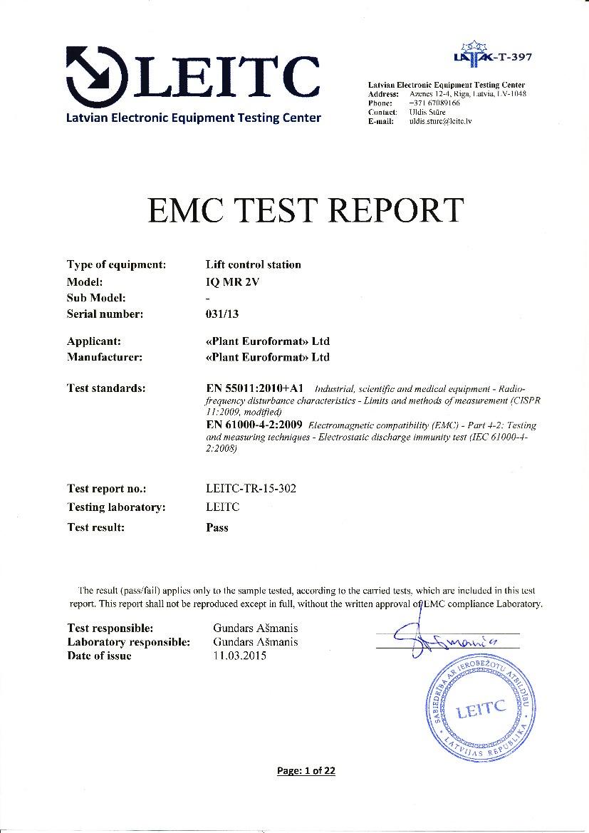 Euroformat - Производство лифтового оборудования